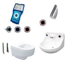 DVS Anti-Ligature High Risk Wall-Hung Toilet, Basin & Shower Pack - Programmable Wave-On Controls
